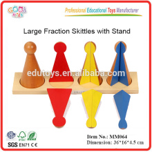 Educational Montessori Material Toys Large Fraction Skittles with Stand