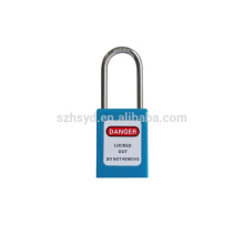 Slim shackle safety padlock