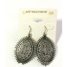 Retro Lace Metal Earrings for Fashion Lady