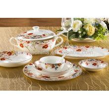 Exportar una mesa de dinning de la porcelana de la porcelana del hueso real real de la categoría fijada