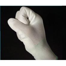 Tricotado PU dedo revestido 13 Gauge fibra de carbono ESD luvas