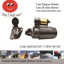 Starter do motor diesel do cilindro de 3.7kw 24V Muti para Jiangdong (QD252D)