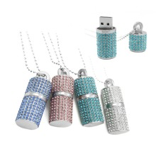 Online Manufacturer for for Usb Flash Drive Lipstick style Crystal Necklace 16GB Usb Memory stick export to South Korea Factories
