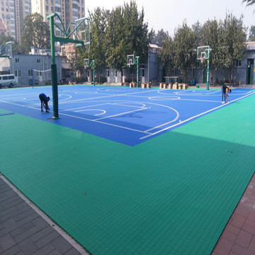 Outdoor Plastic Flex Court Modular Interlock Sports Surface