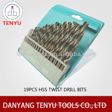 19 piece metric high speed steel drill bits