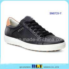 Zapatos de golf negro de los hombres
