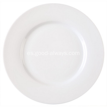 Placa de 8 pulgadas 20,4 cm porcelana con borde lateral