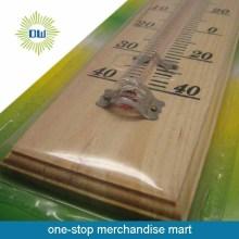 2015 termurah dinding kayu termometer