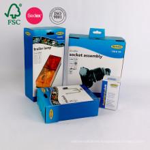 Caja de papel de empaquetado de alta calidad de la cartulina acanalada del cartón del producto electrónico de encargo