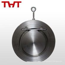 disco de oblea de acero inoxidable 2 en línea válvula de control de flujo completo cf8m