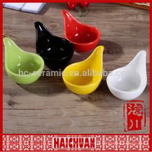 Cerâmica oval azul assar utensílios com tampa de silicone Lunch box locker bowl Tigela de macarrão japonês