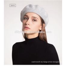 Boina de lana de las mujeres de moda Sombrero de invierno cálido Nueva gorra de cachemira