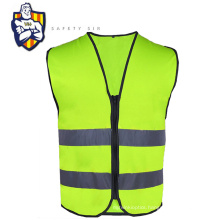 road work product of high visibility reflective safety vest with zipper