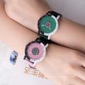 Новое поступление мода сверкающих блестящий Циферблат силиконовые часы