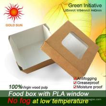 Emballage de boîtes de papier de restauration rapide avec fenêtre (K85)