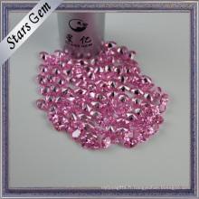Petite pierre cubique rose de zircone de mode pour le cadre de bijoux