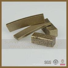 Segmento de serra de gangue de saída de fábrica para cortar pedra artificial