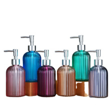 400ml customized glass hand sanitizer bottle with pump top