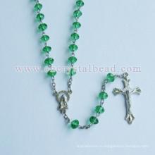 Высокое качество сплава янтарные четки крест материал
