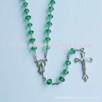 High Quality Amber Rosary Alloy Cross Material