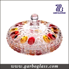 Colored Christmas Glass Candy Jar