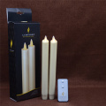 set van 2 15 Inch Moving Flame Taper Candle voor Decoratie