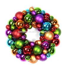 elegant indoor plastic christmas wreath decorative