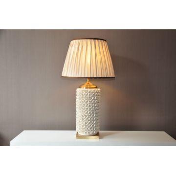 White Pattern Ceramic Base Table Lamp (MT112036L)