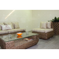 Modish Elegant Interior Design Water Hyacinth Sofa Set For Indoor Natural Furniture