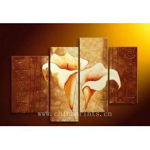 Photos de fleurs classiques peinture à l'huile art de groupe