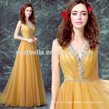 Moq 1 часть элегантный Золотой желтый торжества вечернее коктейльное платье