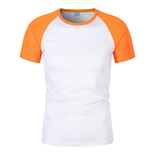 Customized Quick Drying Short Sleeve Raglan Round Neck Plain T-Shirts