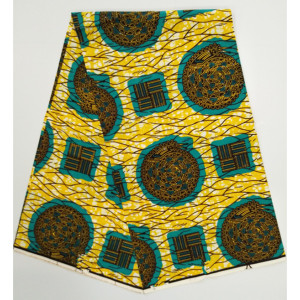 Yellow african print fabric super wax