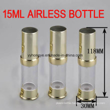 High Quality 15ml Gold Airless Packaging Bottle/Cosmetic Bottle
