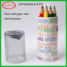 New Package Non Toxic Mini Round Wooden Color Pencil