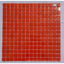 Mosaico de vidrio cristalino naranja