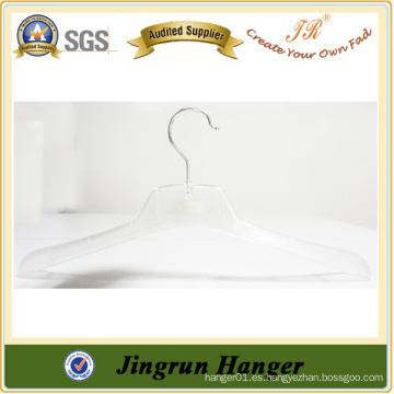 Chaqueta de ropa transparente percha de plástico