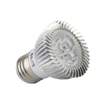 Venda quente quente branco puro branco E27 3W LED Spotlight