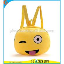Горячая Качество забавные милые emoji лицо рюкзак Сумка плюшевые Телефон Сумка для Леди