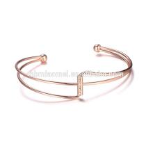 Fábrica profissional OEM Abastecimento Moda falso 18k 24k pulseiras de ouro pulseiras