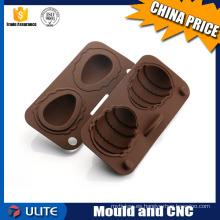 Moldeo de inyección de plástico personalizado para molde de plástico de chocolate y molde de plástico alertor