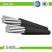 Cable aéreo aéreo del conductor de 0.6 / 1 Kv 2 Core ACSR
