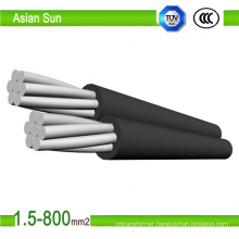 0.6/1 Kv 2 Core ACSR Conductor Overhead Aerial Bundled Cable