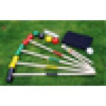 Outdoor 4 oder 6 Spieler Spiel Wooden Croquet Set