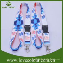 Hot Sale Custom Design Cheapest Polyester Neck Lanyard Strap with Printing Logo