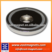 hot sale rare earth pot magnet with bore