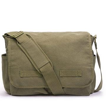 Custom Canvas Messenger Bag for Men