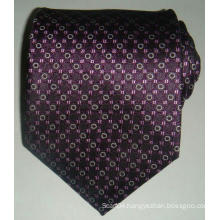 Customized Men′s Silk Woven Jacquard Checked Necktie