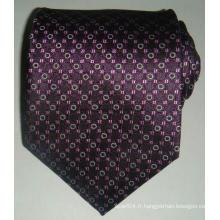 Cravate à carreaux Jacquard en soie personnalisée pour homme
