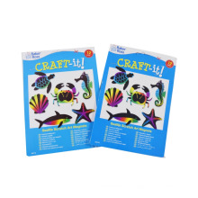 2017 kids playing animals cards printing kids scratch off card